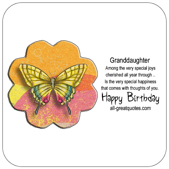 Free Birthday Cards For Granddaughter Happy Card