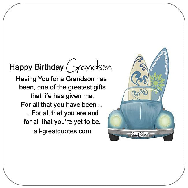 Birthday Cards For Grandson