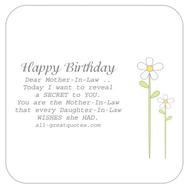 Mother-in-law related, free birthday cards to share on Facebook, Share on Facebook, age related birthday cards for free, ecard images, pictures, photos