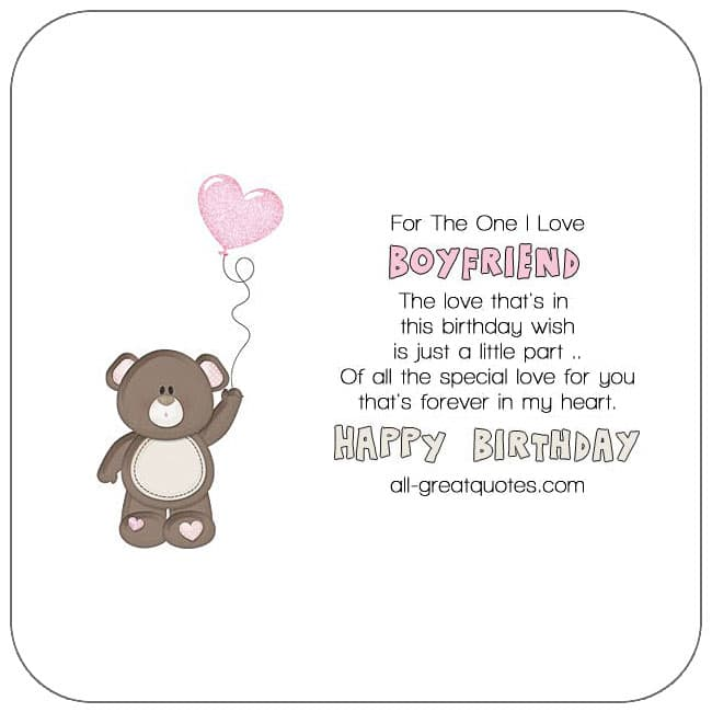 Boyfriend free birthday cards to share on Facebook, Share on Facebook, birthday cards for free, ecard images, pictures, photos