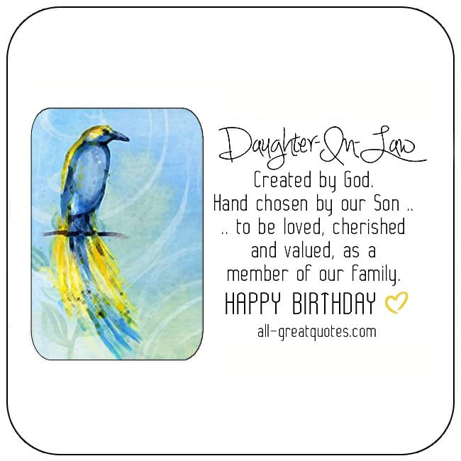 Daughter-in-law free birthday cards to share on Facebook, Share on Facebook, birthday cards for free, ecard images, pictures, photos