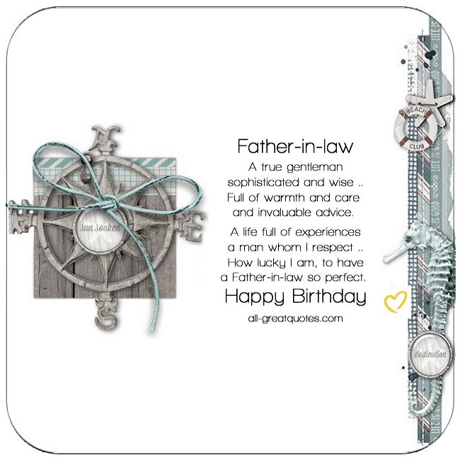Father-in-law free birthday cards to share on Facebook, Share on Facebook, birthday cards for free, ecard images, pictures, photos