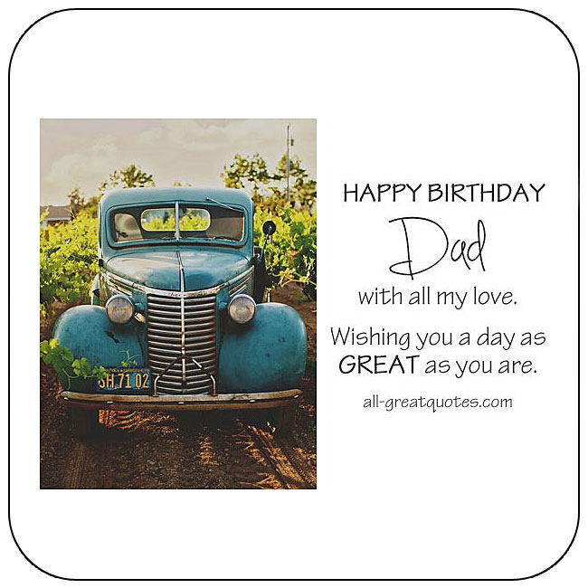 Father Dad free birthday cards to share on Facebook, Share on Facebook, birthday cards for free, ecard images, pictures, photos