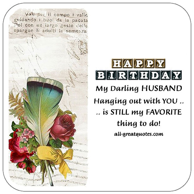 Free Birthday Cards For Husband Happy Card