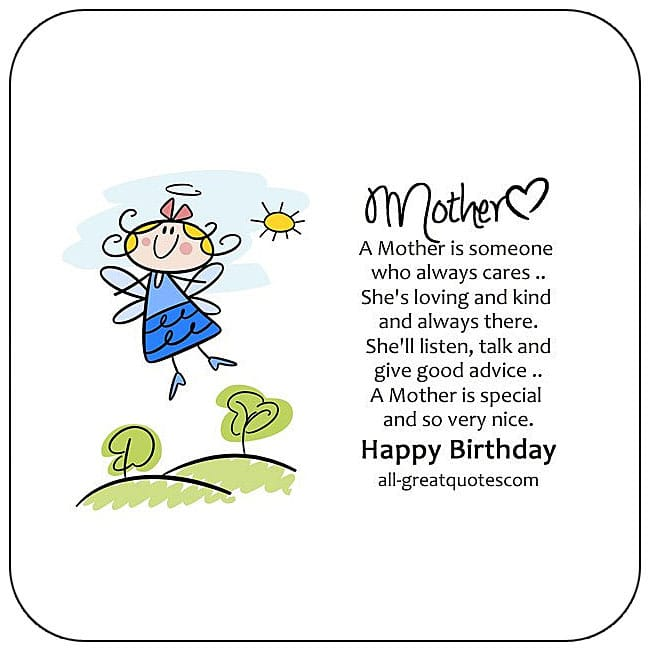 Free Birthday Cards For Mother Happy Card
