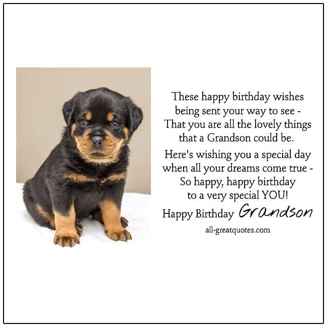 Happy Birthday Grandson Birthday Cards