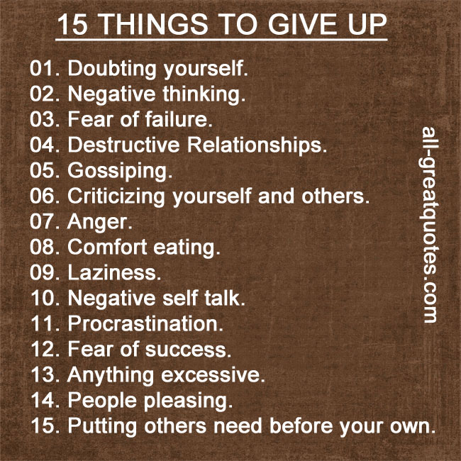 15-things-to-give-up-doubting-yourself