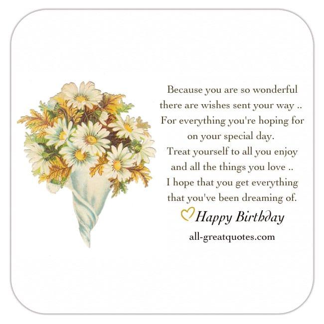 Happy Birthday Because You Are So Wonderful How To Wish Myself