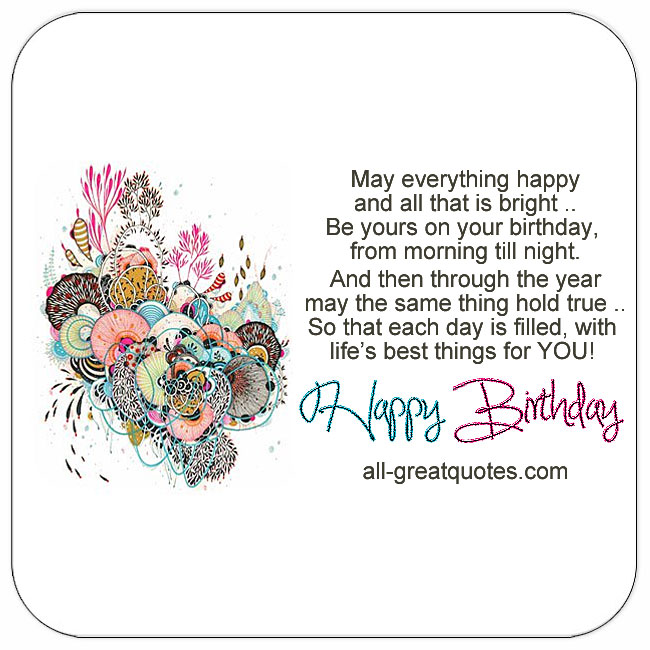 May everything happy and all that is bright happy birthday cards for facebook