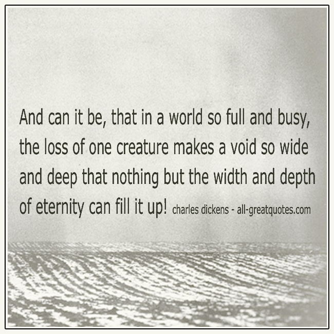 And Can It Be That In A World So Full And Busy Charles Dickens Quote