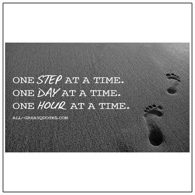 One Day At A Time Quote
