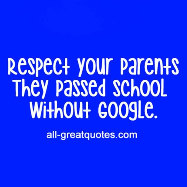 respect your parents Question: what does it mean to honor my father and mother answer: honoring your father and mother is being respectful in word and action and having an inward attitude of esteem for their position the greek word for honor means to revere, prize, and value honor is giving respect not only.