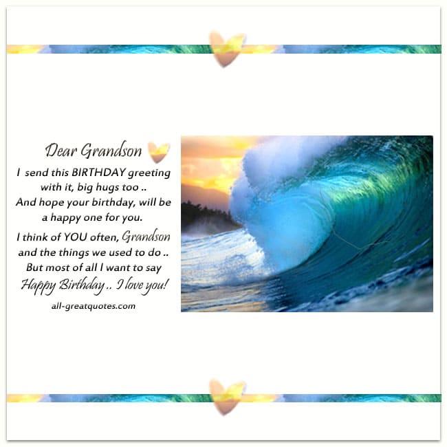 Grandson Birthday Card For Facebook 2