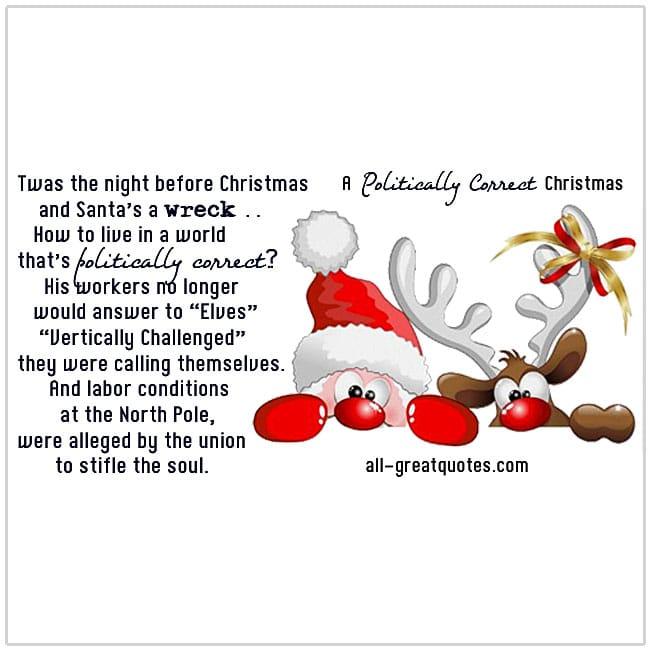 A Politically Correct Christmas Poems For Christmas