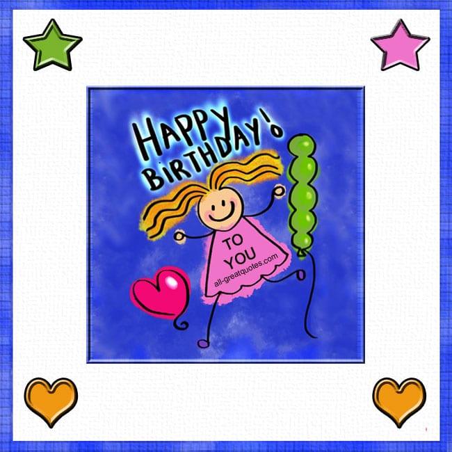 Hey Happy Birthday Girl Birthday Card