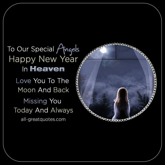 happy new year in heaven card for facebook