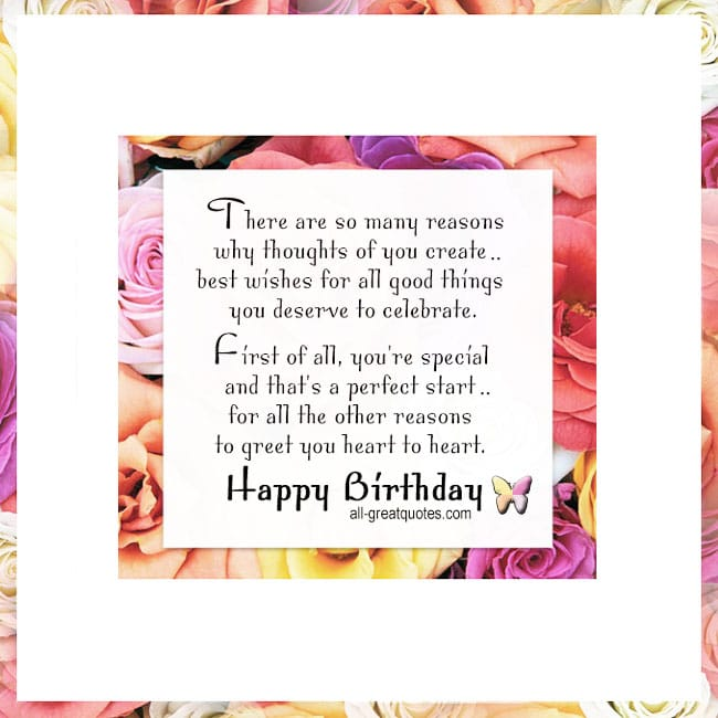 There are so many reasons why thoughts of you create best wishes for all good things you deserve to celebrate. Friend Birthday Card