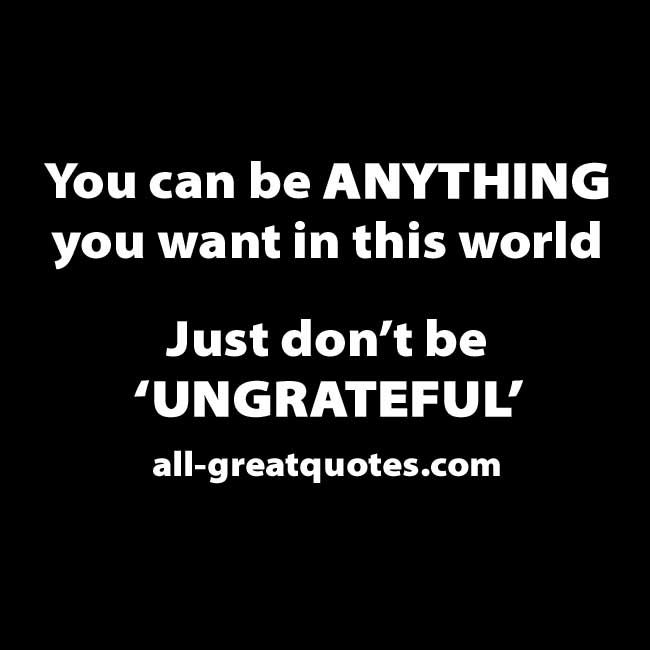 You can be ANYTHING you want in this world