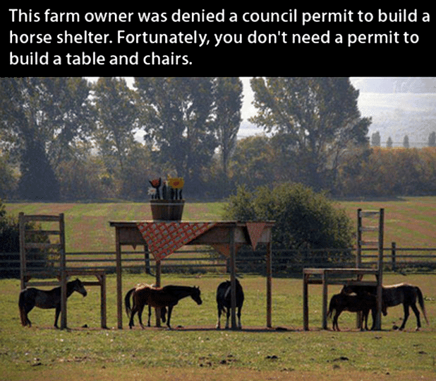 dont need a permit to build table and chairs