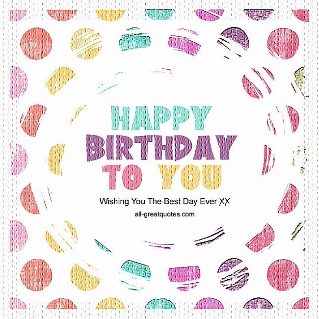 Happy Birthday To You Cards For Facebook
