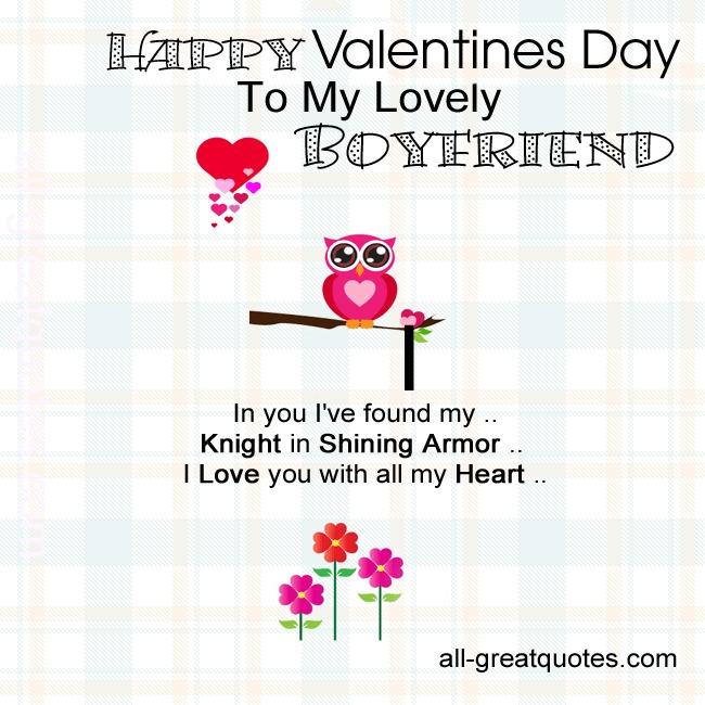 Happy Valentines Day To My Lovely Boyfriend
