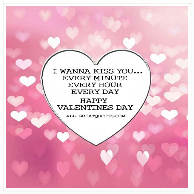 I Wanna Kiss You Happy Valentines Day Card