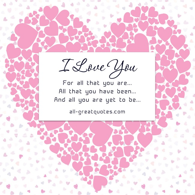 I love you for all that you are facebook greeting cards love bookmarktalkfo Choice Image