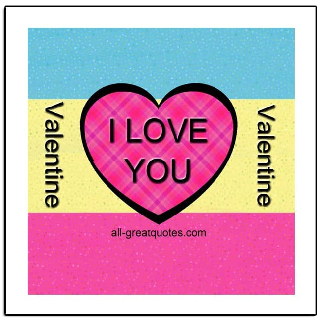 Valentine - I Love You! Valentine Cards For Facebook