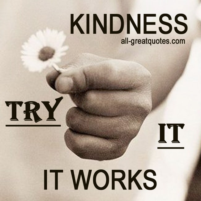 KINDNESS, TRY IT, IT WORKS