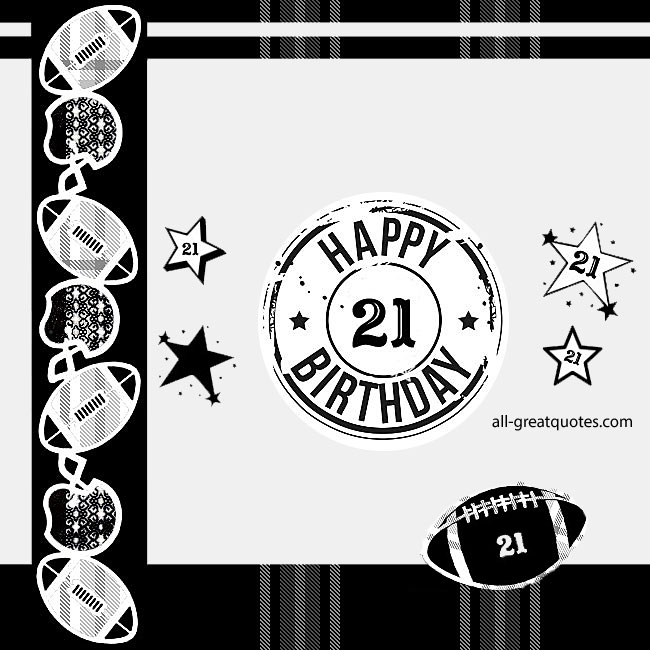21st Birthday Age Related Free Cards