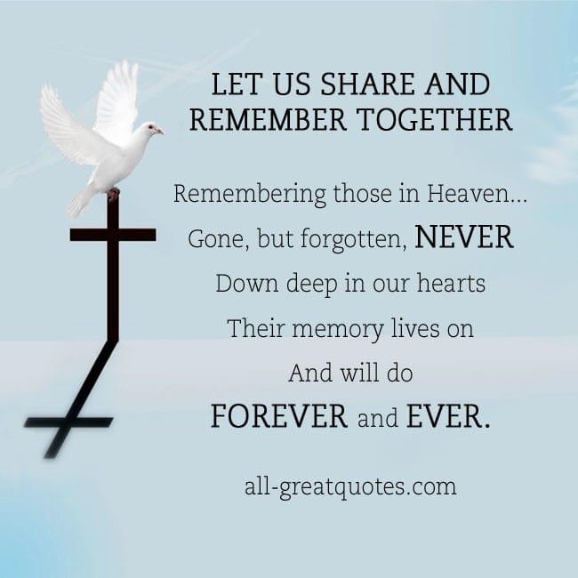 Remembering those in Heaven In Loving Memory Card