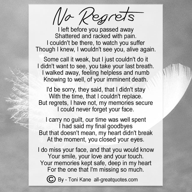 I_left_before_you_passed_away_no_regrets_by_toni_kane