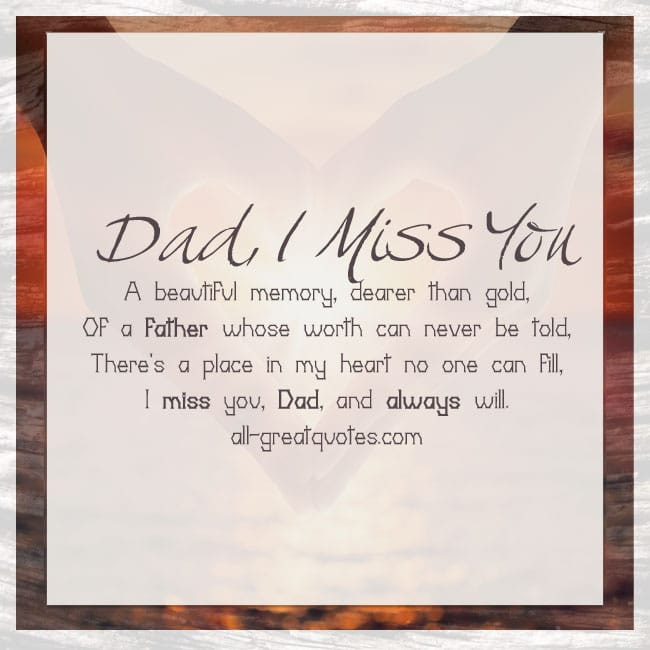 A beautiful memory, dearer than gold, of a father whose worth dad memorial cards