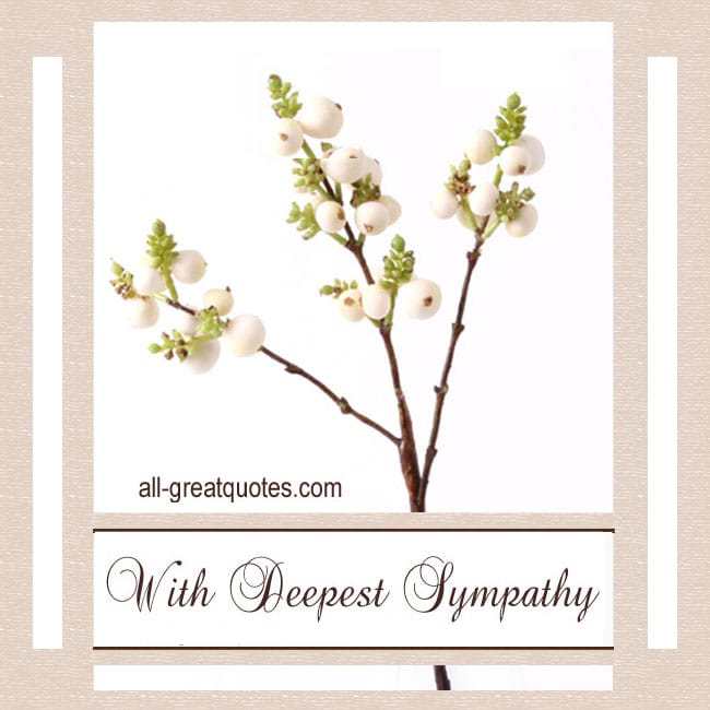 Free With Deepest Sympathy Cards To Share On Facebook