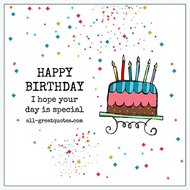 I Hope Your Day Is Special Colorful Cupcake Card For Facebook