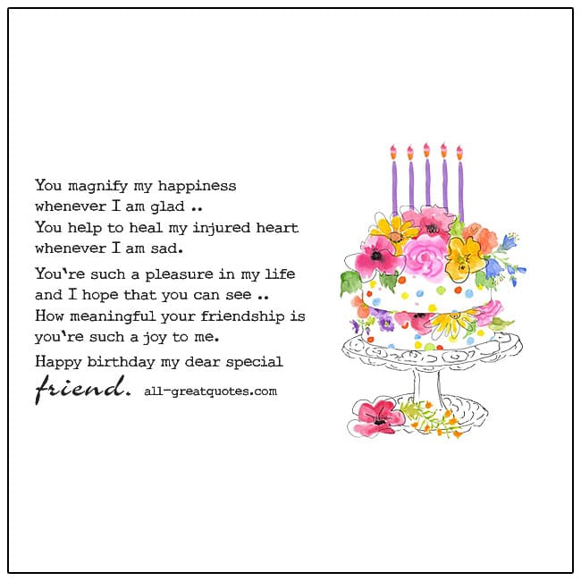 Happy Birthday My Dear Special Friend Card