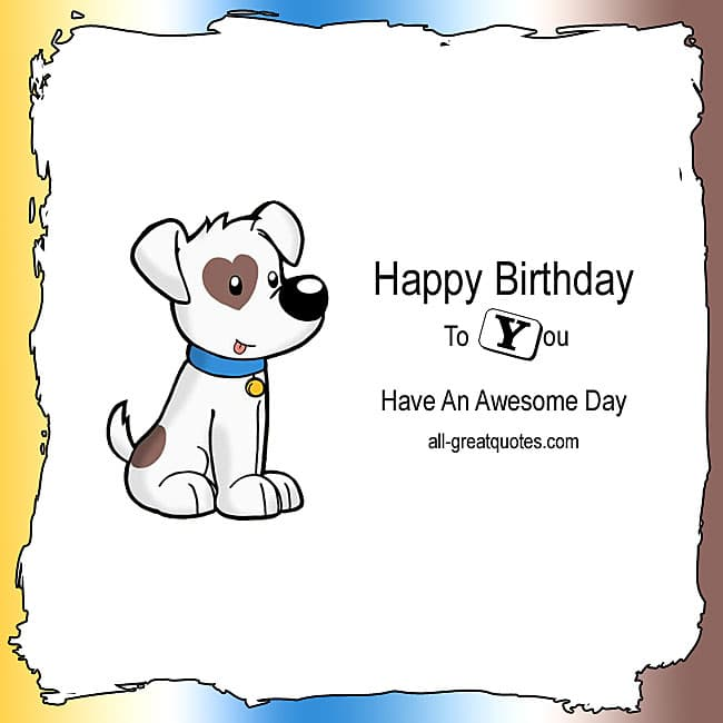 Free Birthday Cards - Happy Birthday To You