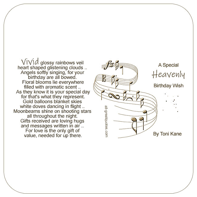 A Special Heavenly Birthday Wish Loved One In Heaven Cardsbak