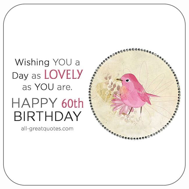 Free 60th birthday cards Happy 60th Birthday
