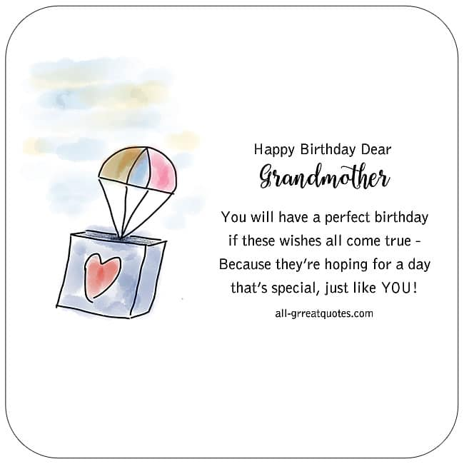 Happy Birthday Dear Grandmother Brithday Cards For Facebook