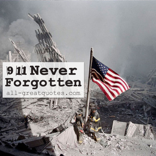 9/11 Never Forgotten | September 11 2001 Memorial Cards