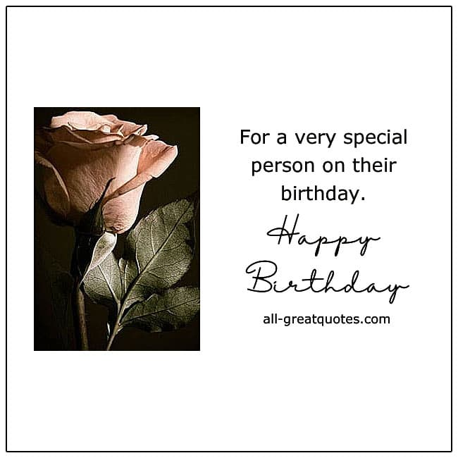 For a special person on their birthday cards for Facebook