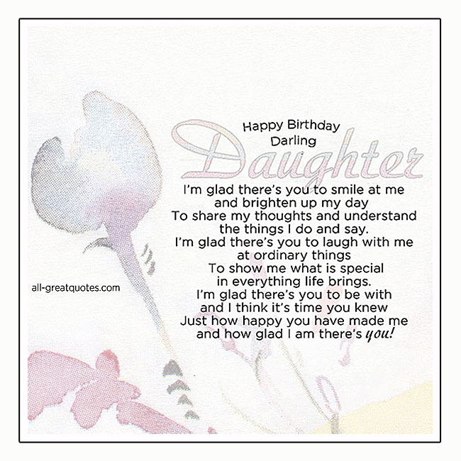 Happy Birthday Darling Daughter Cards