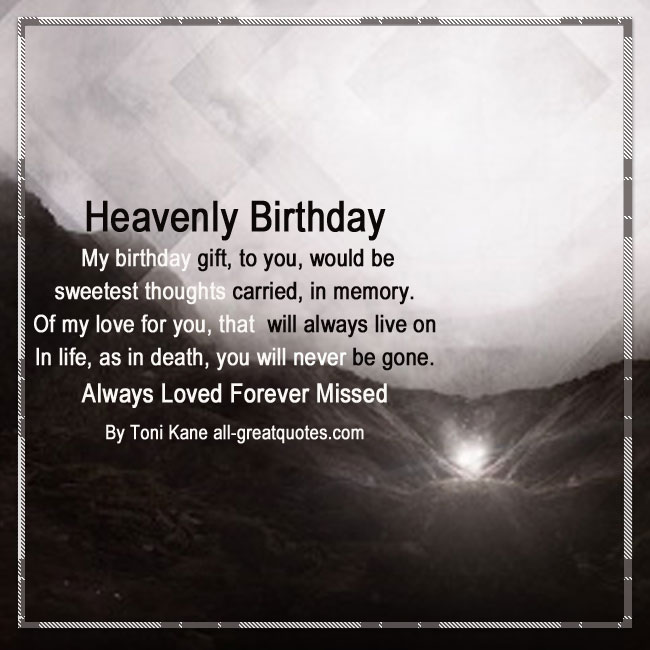 Happy Birthday In Heaven Poems For Your Birthday In Heaven