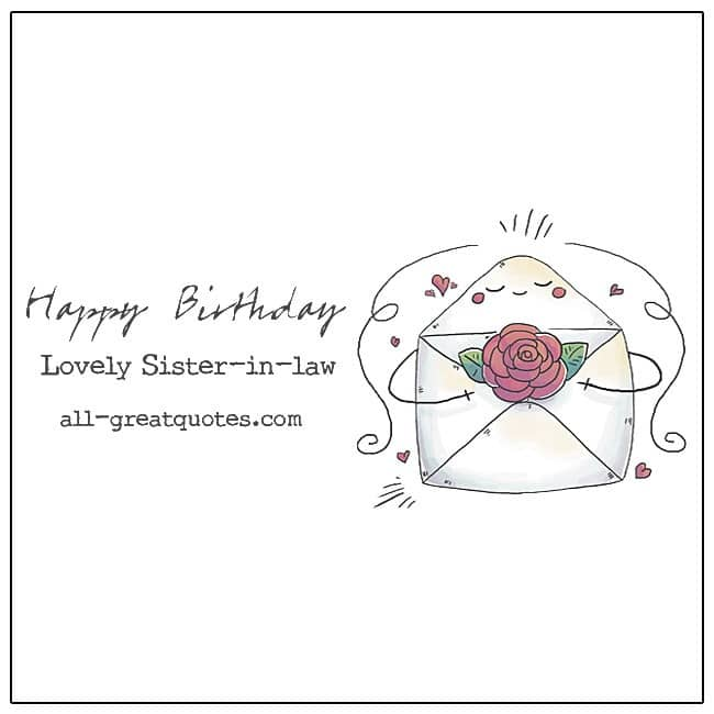 Happy Birthday Lovely Sister in law Free Sister-in-law birthday cards