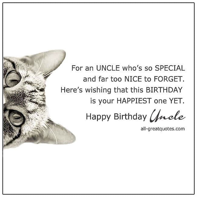For an Uncle Whos So Special Uncle Birthday Card