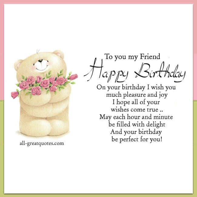 To You My Friend Happy Birthday Cards For Friends