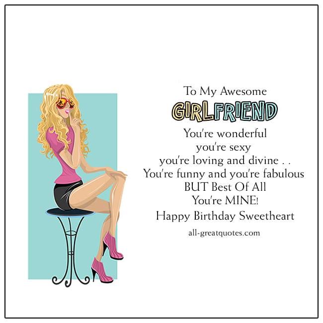 Girlfriend Birthday Wishes For Girlfriend
