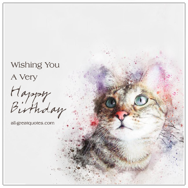 Wishing You A Very Happy Birthday Cat Birthday Cards