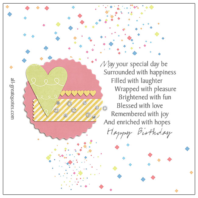 https://www.all-greatquotes.com/happy-birthday-may-your-specialMay Your Special Day Be Surrounded With Happiness Happy Birthday Cards